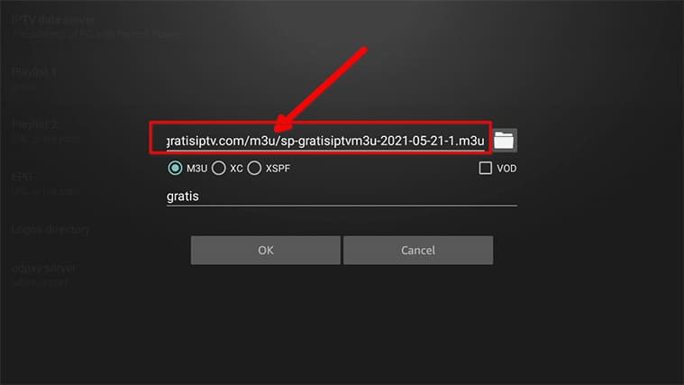An image featuring how to set up Gratis IPTV in FireStick step25