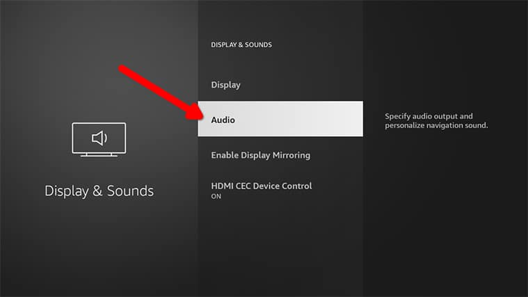An image featuring how to fix the FireStick Audio Problems step3