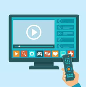 An image featuring TV application concept