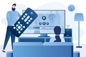 An image featuring streaming TV concept