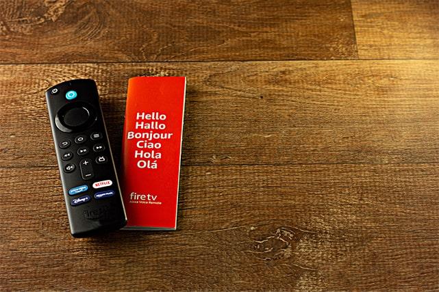 An image featuring a FireStick TV remote representing FireStick concept
