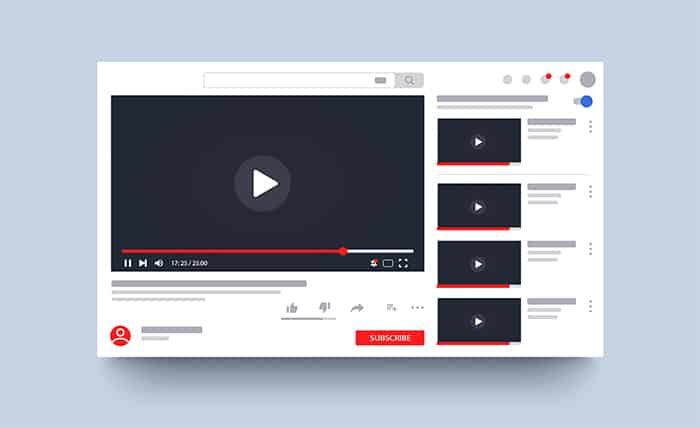 An image featuring the YouTube background and videos concept