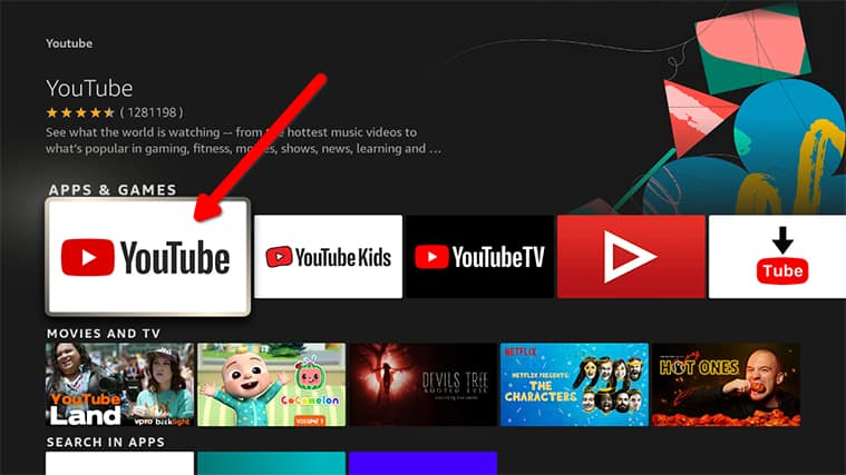 An image featuring How to Install Official YouTube App For Video Content step5